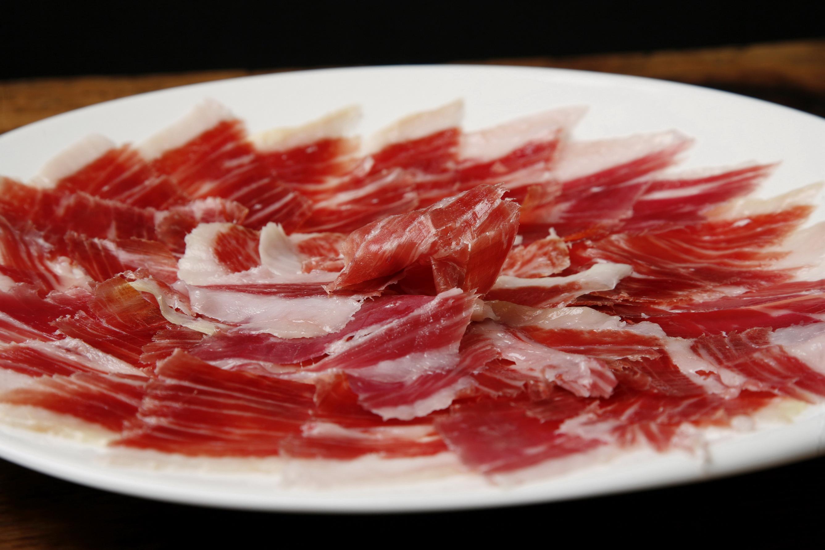 Jam n curado delicia espa ola - Platos con jamon iberico ...